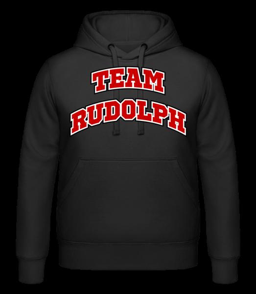 Team Rudolph - Hoodie - Black - Vorn