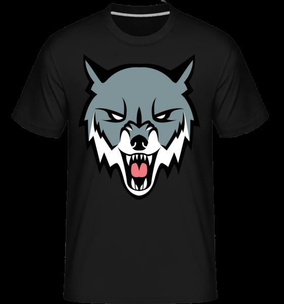 Angry Wolf - Shirtinator Men's T-Shirt - Black - Vorn