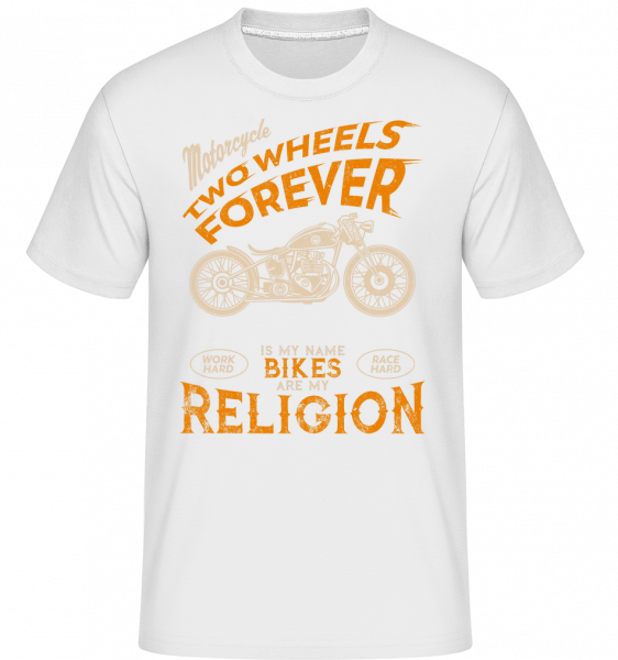 Bikes Are My Religion -  Shirtinator Men's T-Shirt - White - Vorn
