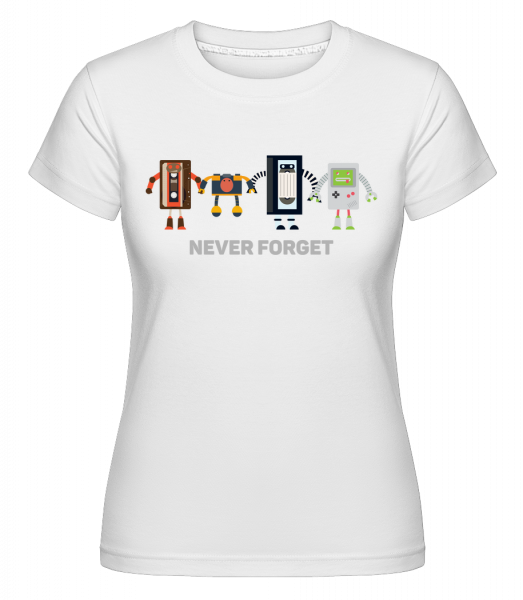 Never Forget Old Technology - Shirtinator Women's T-Shirt - White - Vorn
