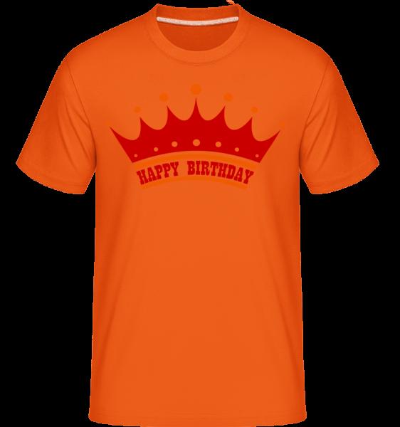 Happy Birthday Crown -  Shirtinator Men's T-Shirt - Orange - Vorn