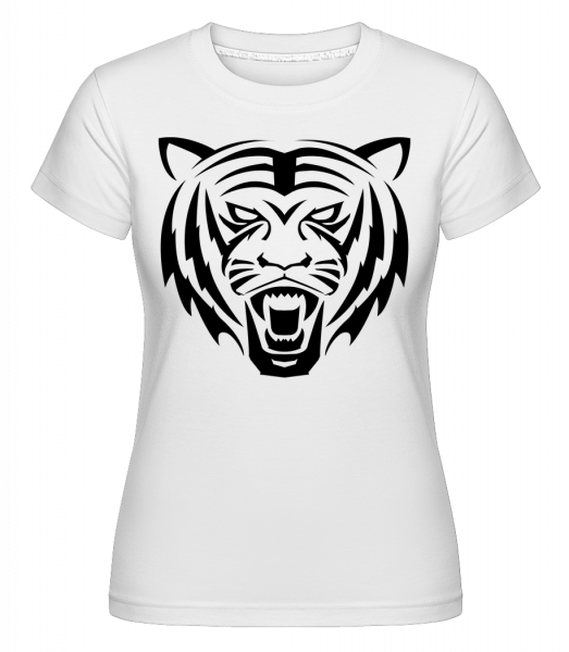 Tiger Head - Shirtinator Women's T-Shirt - White - Vorn