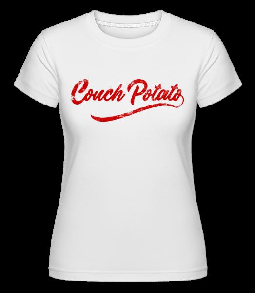 Couch Potato -  Shirtinator Women's T-Shirt - White - Vorn