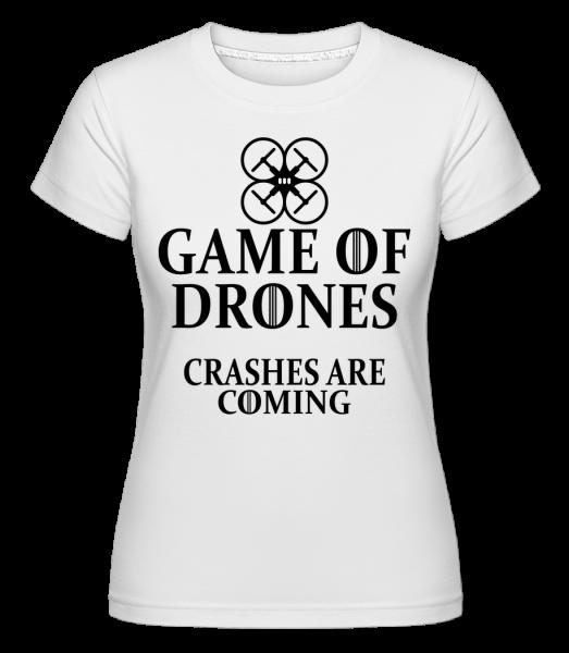Game Of Drones -  Shirtinator Women's T-Shirt - White - Vorn