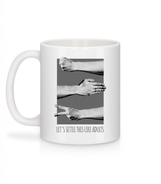 Let's Settle This Like Adults - Mug - White - Hinten