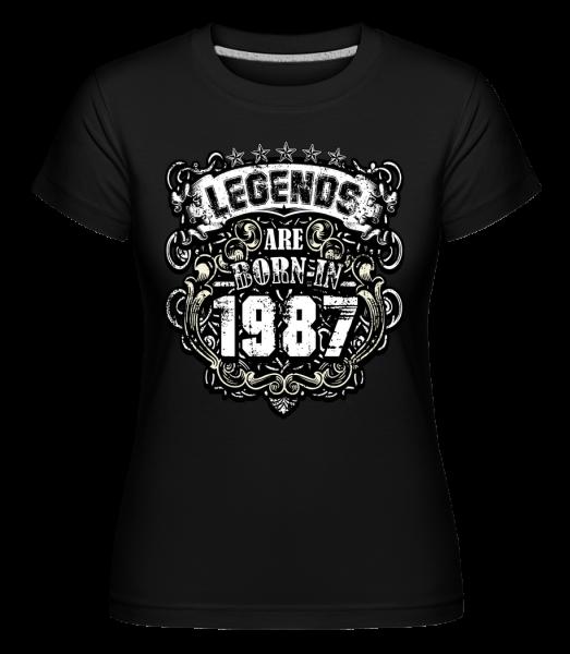 Legends Are Born In 1987 - Shirtinator Women's T-Shirt - Black - Vorn