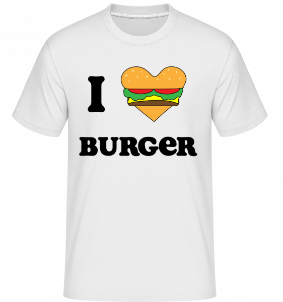 I Love Burger -  Shirtinator Men's T-Shirt - White - Vorn