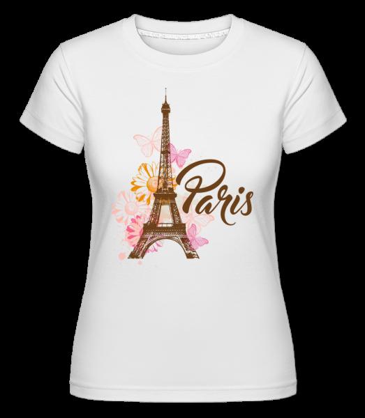 Paris France Brown - Shirtinator Women's T-Shirt - White - Vorn