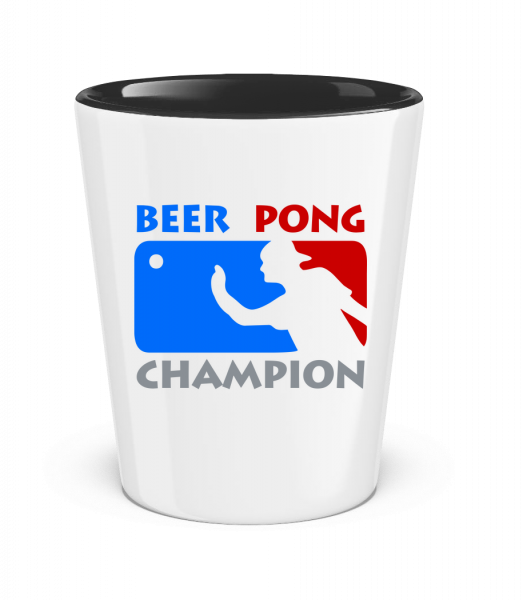 Beer Pong Champion - Two-Toned Shot Glass - White - Vorn