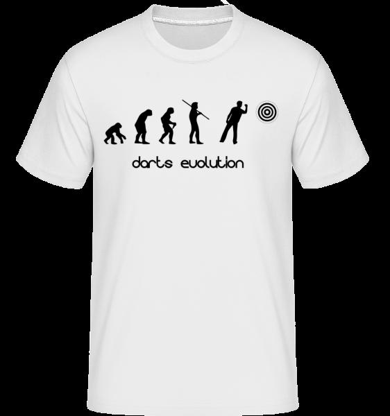 Darts Evolution -  Shirtinator Men's T-Shirt - White - Vorn
