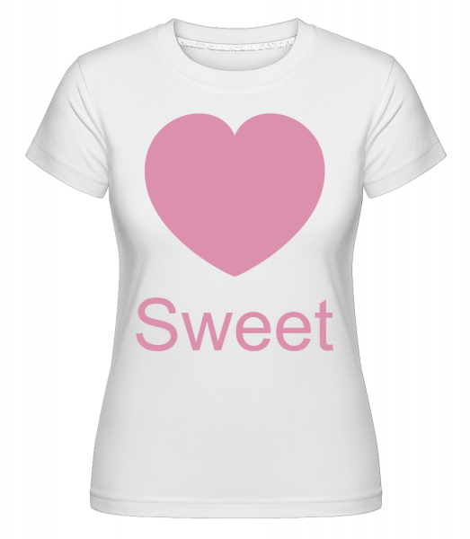 Sweet Heart - Shirtinator Women's T-Shirt - White - Vorn