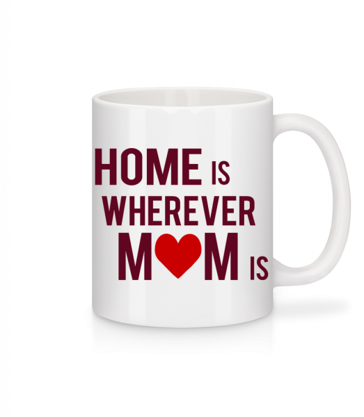 Home Is Wherever Mom Is - Mug - White - Vorn