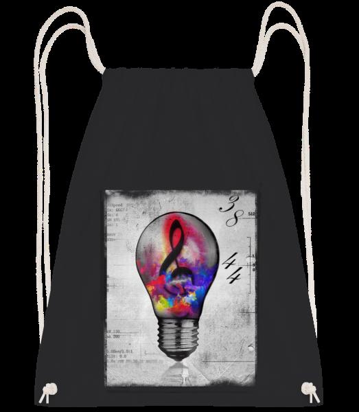Colourful Lightbumb - Drawstring Backpack - Black - Vorn