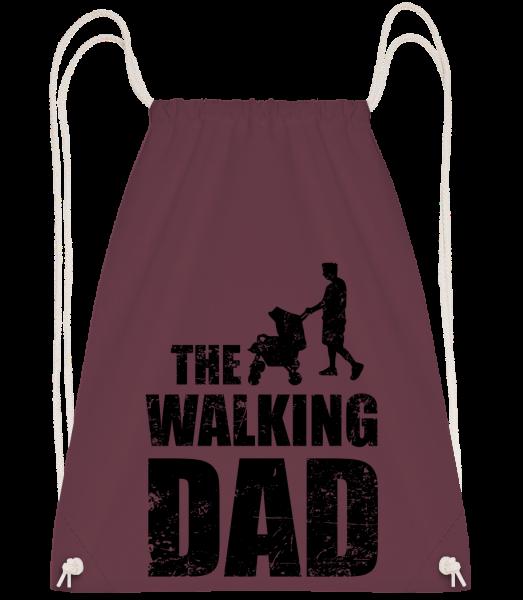 The Walking Dad - Drawstring Backpack - Bordeaux - Vorn