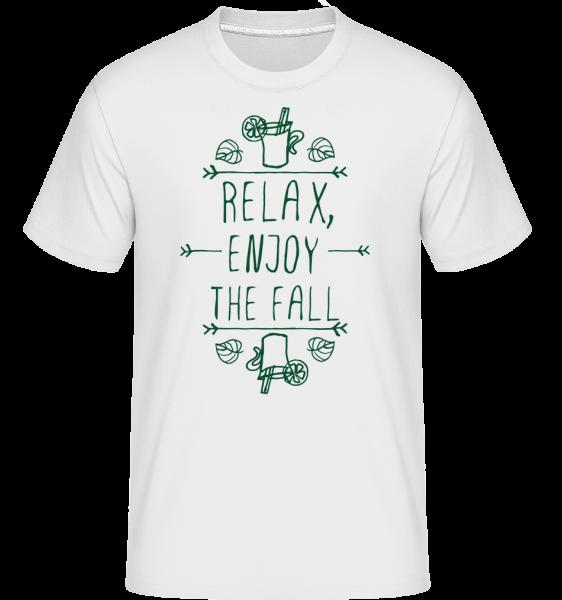 Relax, Enjoy The Fall -  Shirtinator Men's T-Shirt - White - Vorn