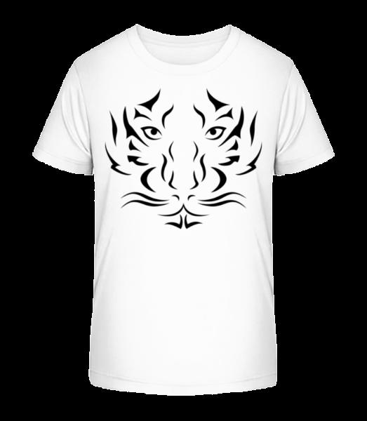 Tiger Head - Kid's Premium Bio T-Shirt - White - Vorn