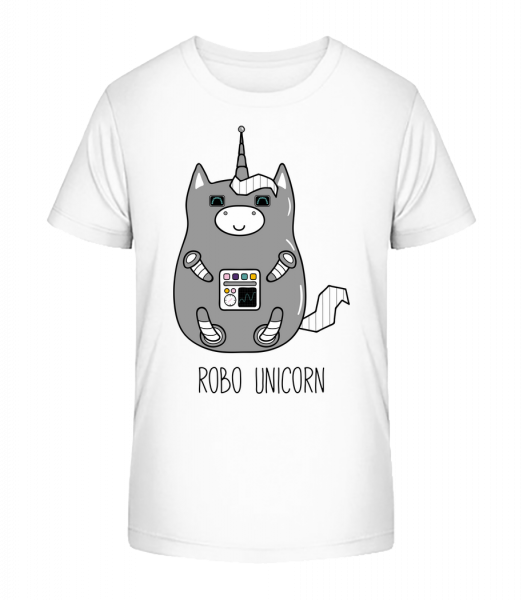 Robo Unicorn - Kid's Premium Bio T-Shirt - White - Vorn