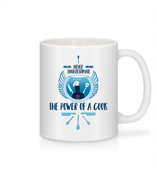 The Power Of A Cook - Mug - White - Vorn