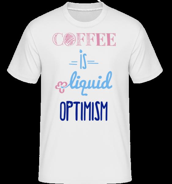 Coffee Is Liquid Optimism -  Shirtinator Men's T-Shirt - White - Vorn