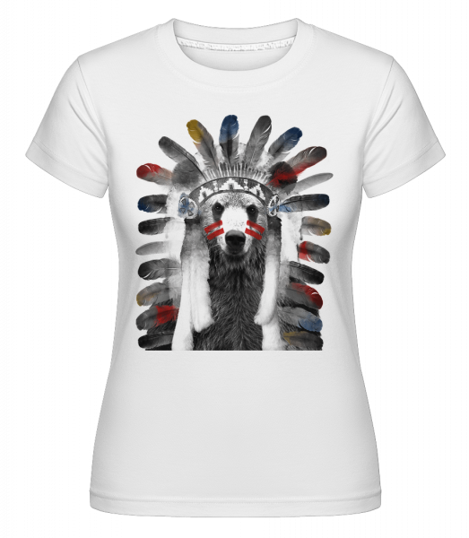 Indian Bear - Shirtinator Women's T-Shirt - White - Vorn
