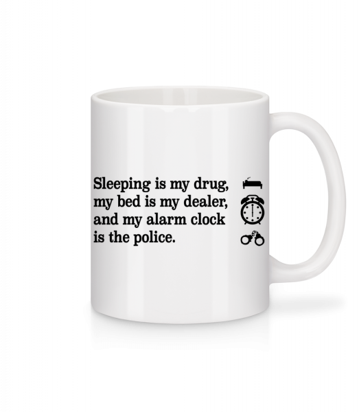 Sleeping Is My Drug - Mug - White - Vorn