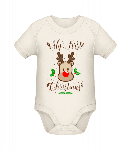 My First Christmas - Organic Baby Body - 12-18 month - Vorn