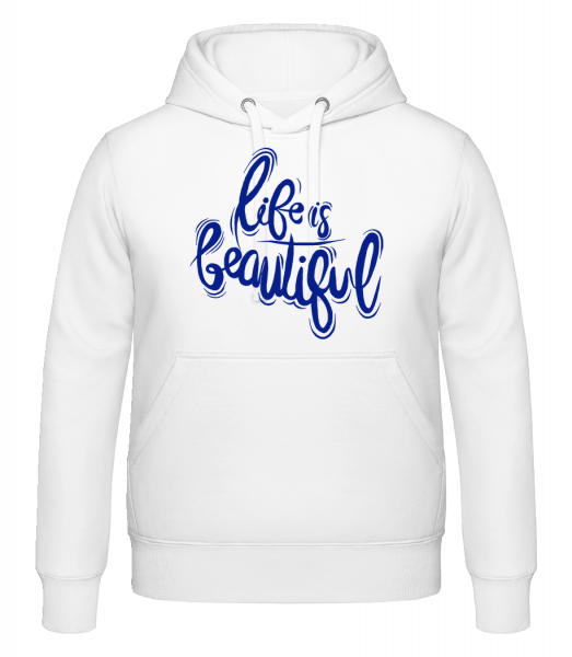 Life Is Beautiful - Hoodie - White - Vorn