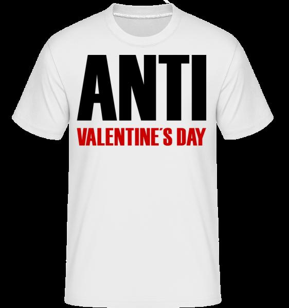 Anti Valentine's Day -  Shirtinator Men's T-Shirt - White - Vorn