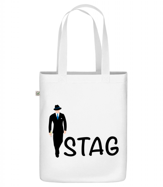 """Stag - Organic """"Earth Positive"""" tote bag - White - Vorn"""