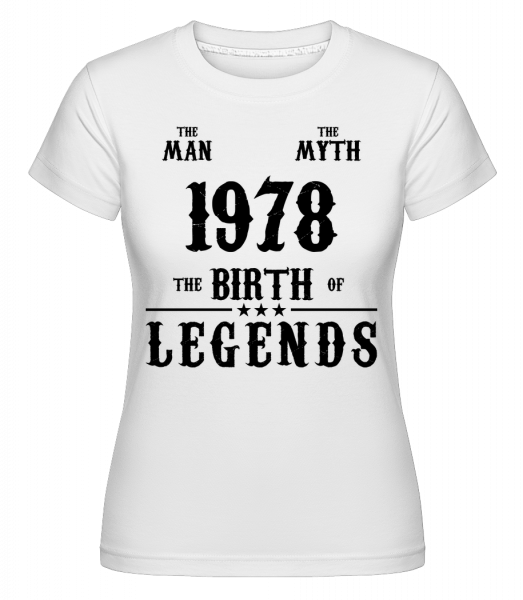 The Myth 1978 - Shirtinator Women's T-Shirt - White - Vorn