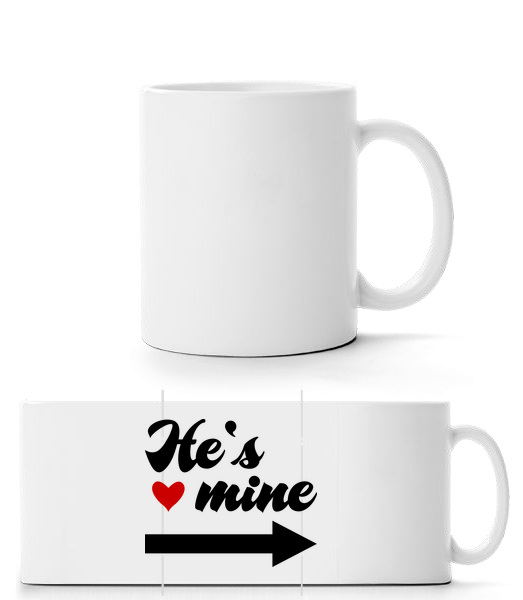He's Mine - Panorama Mug - White - Vorn