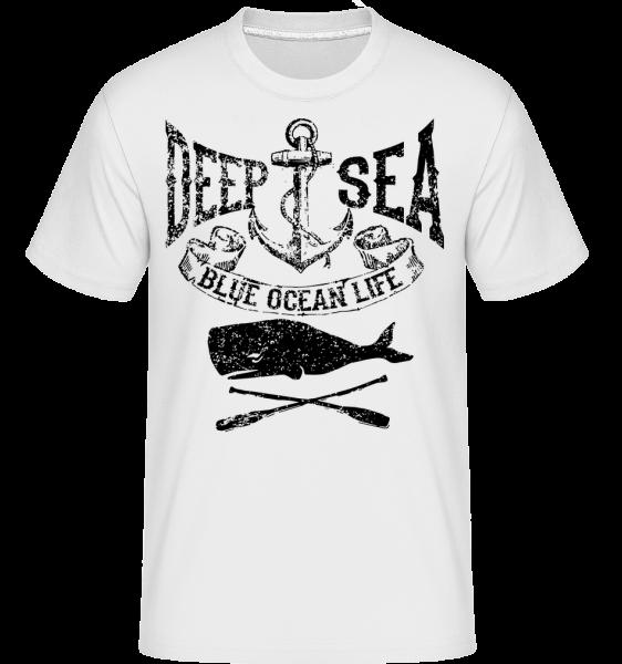 Deep Sea Ocean Icon - Shirtinator Men's T-Shirt - White - Vorn