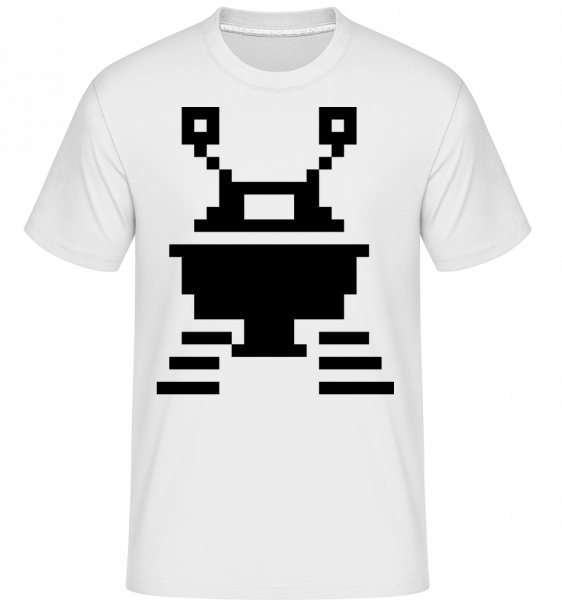 Pixel UFO -  Shirtinator Men's T-Shirt - White - Vorn