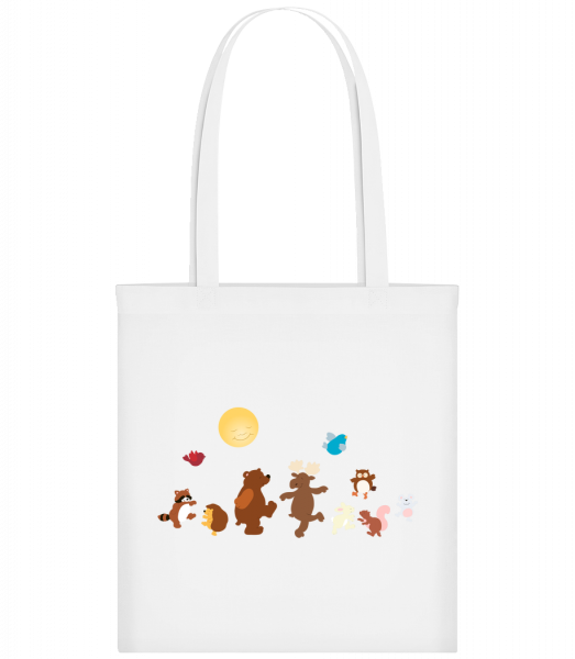 Baby Animal Party - Carrier Bag - White - Vorn