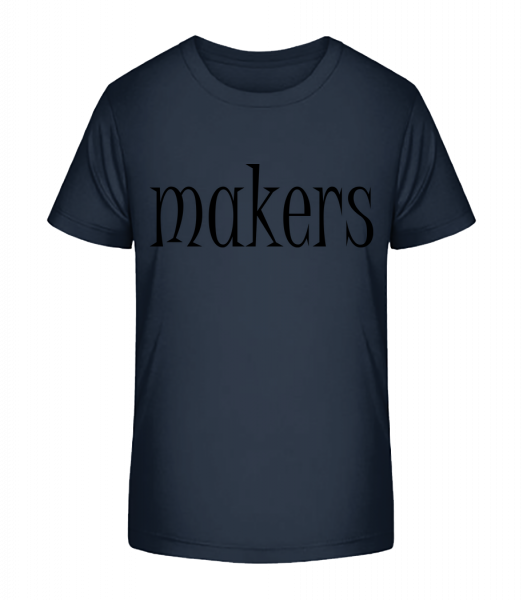 Trouble Makers Partner - Kid's Premium Bio T-Shirt - Navy - Vorn