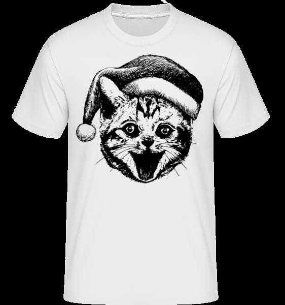 Christmas Cat - Shirtinator Men's T-Shirt - White - Vorn