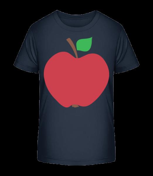 Apple - Kid's Premium Bio T-Shirt - Navy - Vorn