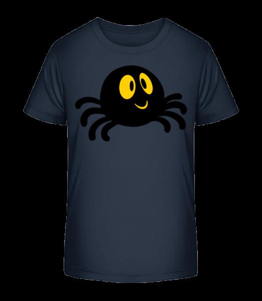 Cartoon Spider - Kid's Premium Bio T-Shirt - Navy - Vorn