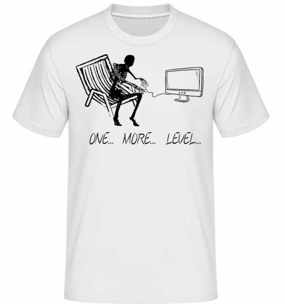 One More Level -  Shirtinator Men's T-Shirt - White - Vorn