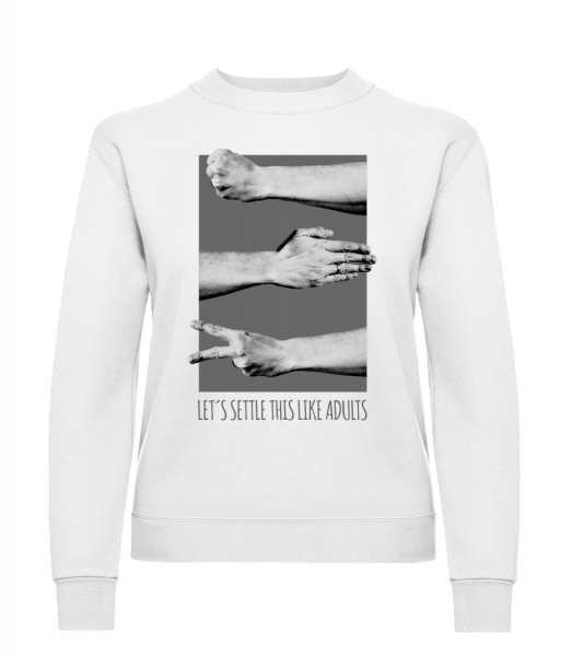 Let's Settle This Like Adults - Classic Ladies' Set-In Sweatshirt - White - Vorn