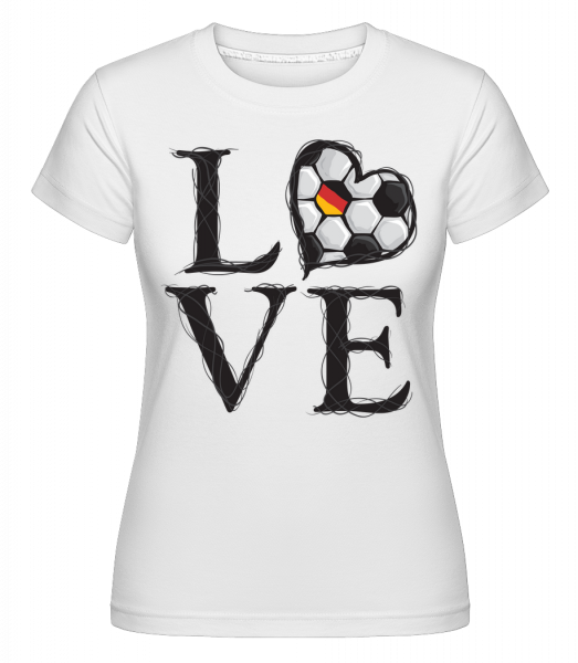 Football Love Germany - Shirtinator Women's T-Shirt - White - Vorn