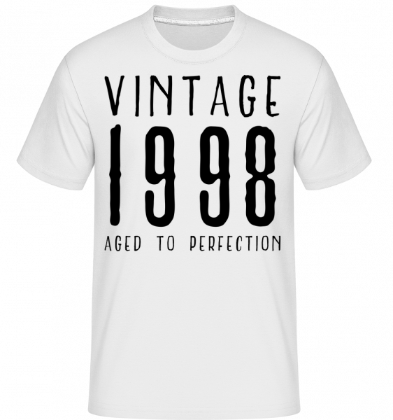 Vintage 1998 Aged To Perfection -  Shirtinator Men's T-Shirt - White - Vorn