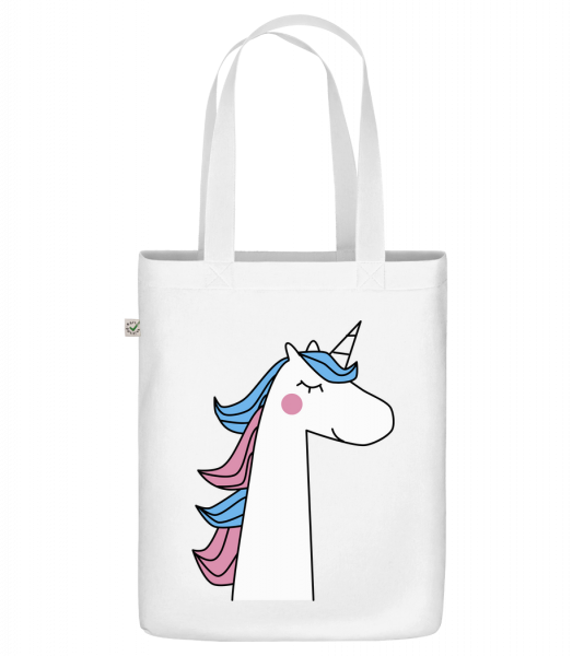"Cute Unicorn - Organic ""Earth Positive"" tote bag - White - Vorn"