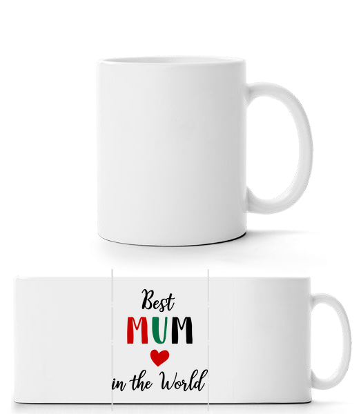Best Mum In The World - Panorama Mug - White - Vorn