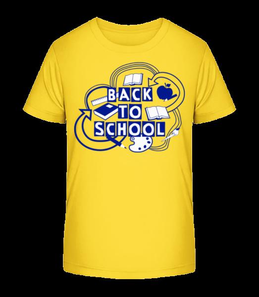 Back To School - Kid's Premium Bio T-Shirt - Yellow - Vorn
