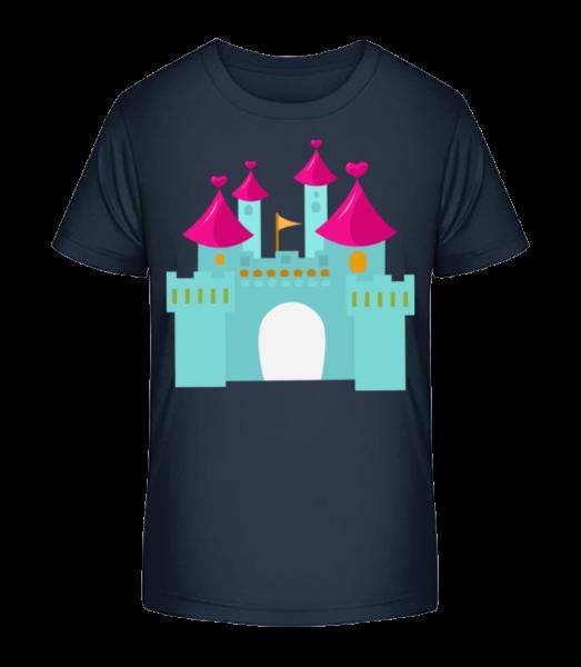 Princess Castle - Kid's Premium Bio T-Shirt - Navy - Vorn