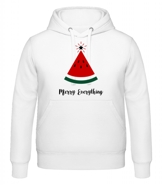 Merry Everything Christmas - Hoodie - White - Vorn