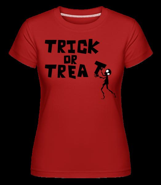 Trick Or Treat -  Shirtinator Women's T-Shirt - Red - Vorn