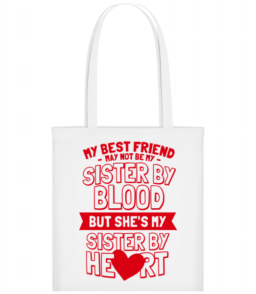 My Sister By Heart - Carrier Bag - White - Vorn