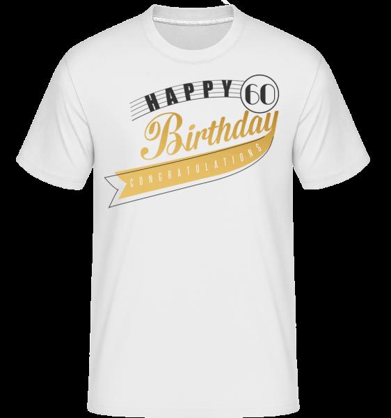 Happy 60 Birthday - Shirtinator Men's T-Shirt - White - Vorn